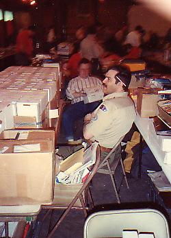 Trader Dave Leubitz at the Rochester, Indiana TOR circa 1993