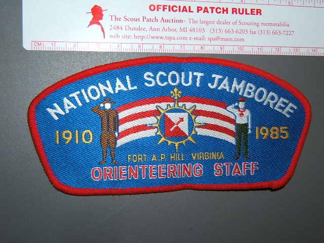 1985 Jamboree Orienteering staff JSP