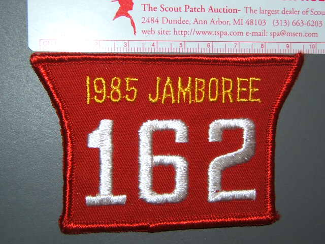 1985 Jamboree troop numeral - T162
