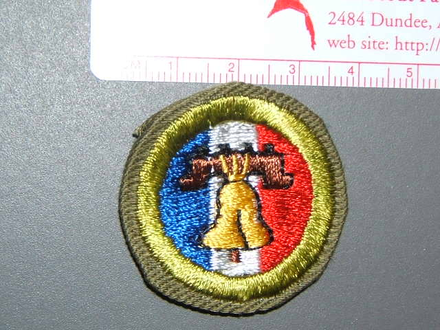 Citizenship in the nation khaki crimped