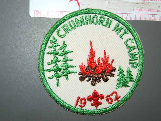 Crumhorn Mt. Camp '62 Otschodela Council New York