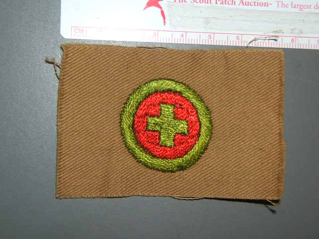 First aid Merit Badge circa 1911-1934
