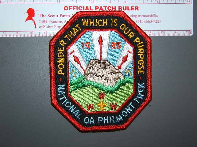 1985 OA Philmont Trek patch