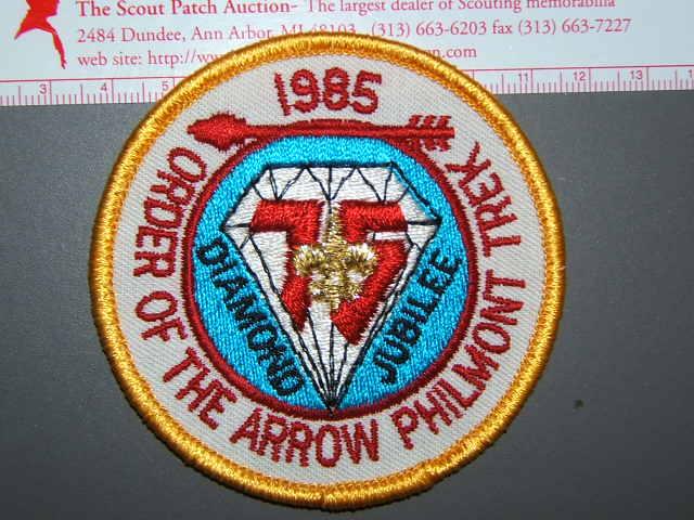 1985 OA Philmont Trek patch