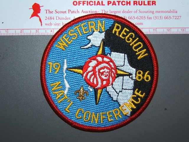 1986 NOAC Western Region patch