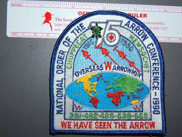 1990 Overseas Arrowman patch