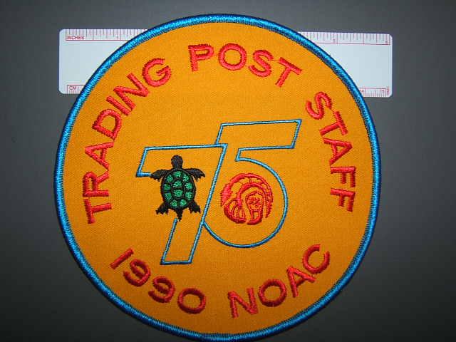1990 NOAC TP staff back patch