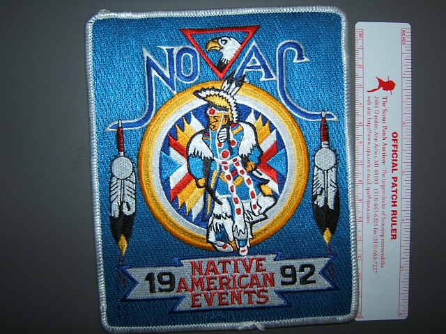 1992 NOAC Native American Events back patch