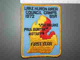Paul Bunyan Bear Lake Rotary Lake Huron Area Council Camps First Year