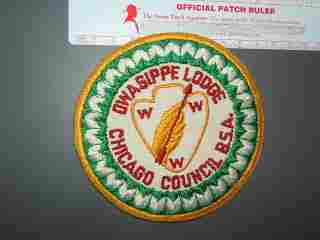 7 Owasippe round patch