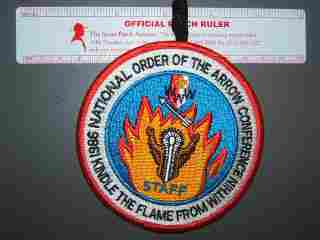 1986 NOAC staff patch