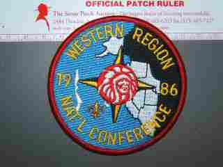 1986 NOAC Western Region patch