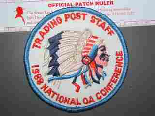 1988 NOAC Trading Post Staff patch