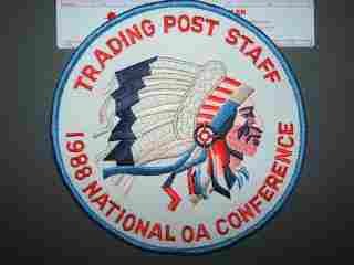 1988 NOAC Trading Post back patch