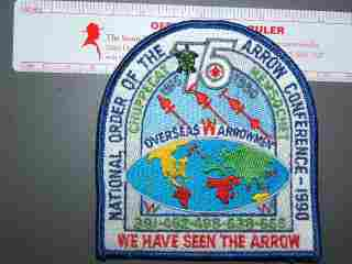 1990 Overseas Arrowman patch