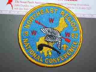 1992 NOAC NE Region patch