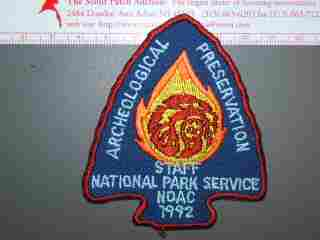 1992 NOAC National Park Service staff patch