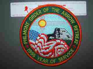 1995 OA Philmont Year of Service back patch