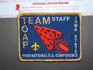 1998 NOAC TOAP Staff patch
