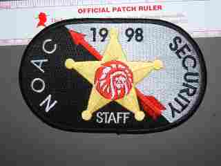 1998 NOAC Security Staff patch