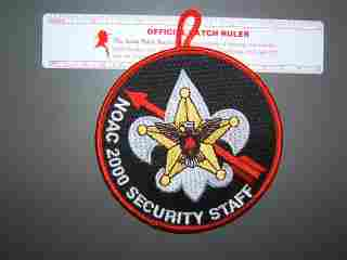 2000 NOAC Security staff RED patch